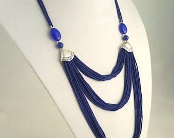 multi strand necklace, multi layer  necklace