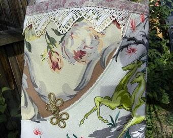 Rare Gazelle Barkcloth tote/Bag