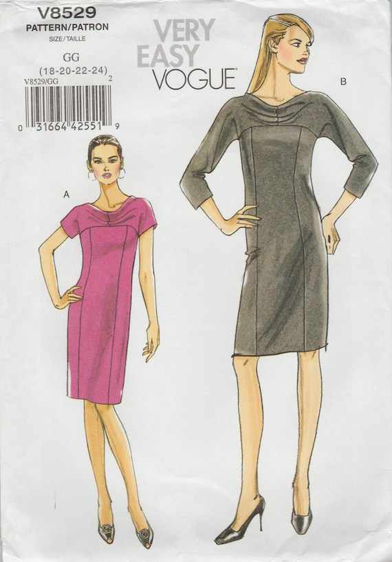 Sehr einfach Vogue 8529 / out of Print Schnittmuster / OOP /