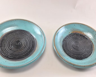Garlic Grater Oil Dipping Dish, handmade from Stoneware.  These are ready to Ship.