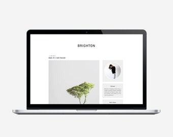 BRIGHTON - Premade Blogger Template - Very Simple, Minimalist, Affordable