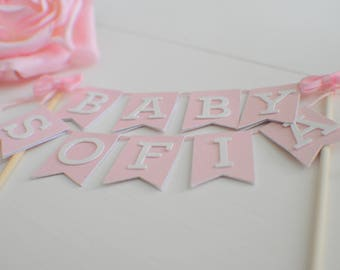 Baby Cake topper, new baby cake topper, Oh baby cake topper, baby shower cake topper, baby cake topper with name