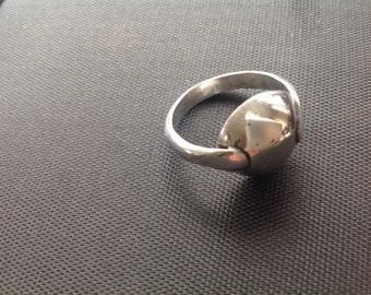 Sterling silver full spoon ring
