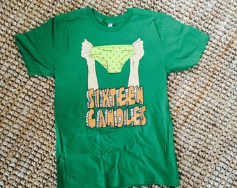 Sechzehn Kerzen Unterwäsche Hemd