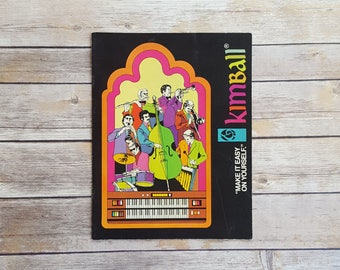Kimball Organ Booklet Catalog Kimball Music Club Make It Easy On Yourself Music History 70s Organ Brochure Music Store Prop Rare Music Page