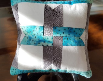 Star Pincushion with stick pin set, Patchwork, Star, Blue, Sewing, Quilting, Needlework, Gift,