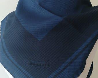 Fashion scarf vintage Blue Tiger silk