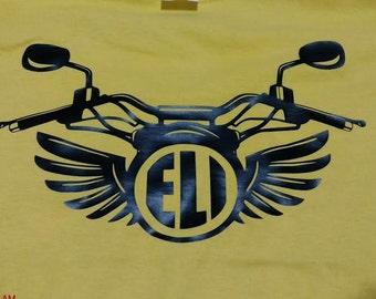 Children's motorcycle initial shirt