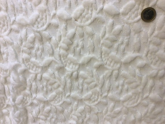 Thick lace fabric, Ivory, slightly elastic