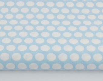 100% cotton fabric given row on a blue pastel print 50 x 160 cm, 100% cotton