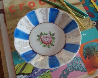 Vintage Hand Painted Trinket Dish - Made in Japan