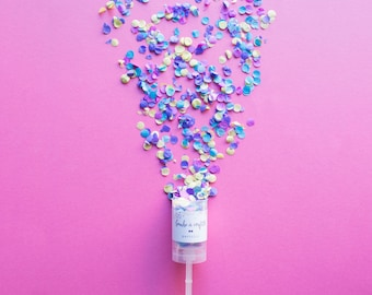 Confetti Push Pop / Wedding Confetti Poppers / Wedding Favors / Gender Reveal Party / Wholesale Pricing available