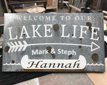 Welcome to our Lake Life with Name