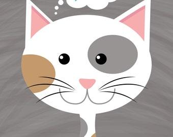 Nursery Art: Kitty Print