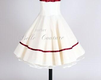 Custom Made & Handmade - Short 50s Petticoat Wedding Dress item: Marie II
