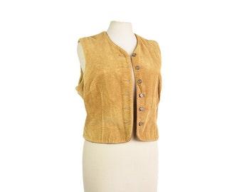 Brown vintage vest / waistcoat