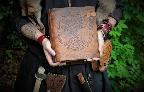 Viking Yggdrasil Tree of Life Design Leather Journal / Custom Binder / Photo Album