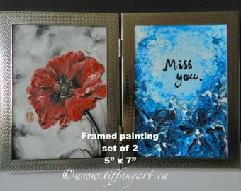 Red Poppy, miss you sign, I miss you,poppy painting,poppy oil painting,poppy wall art,Canada 150,poppy flower,poppy wall decor,red poppy art