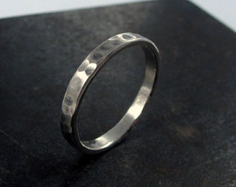 Wedding Band For Men, Made to Order Hammered Wedding Band For Him , Mens Silver Band, Mens Wedding Band, Men's Jewelry