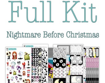 Nightmare Before Christmas Collection - Disney Planner Stickers