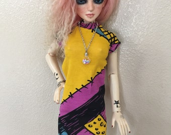 Sally print dress for SD doll