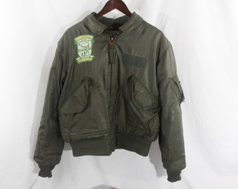 Army Issue Bomber Jacket USS-Sacramento Patch Made In America