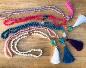 Druzy & Tassel Necklaces