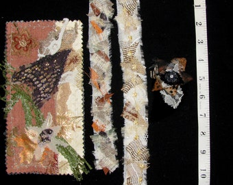 Embellishments - Junk Journal - Scrapbook - Snippet, Shabby, Gypsy, and Boho Chic - 4 piece set