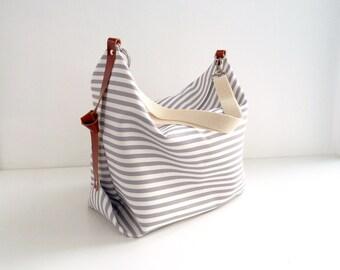 Diaper bag / Maxi bag / Messenger bag / Canvas bag / Personalized diaper bag / Marina Grey