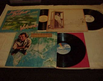 Jimmy Buffet - Three 33 LP Albums - Volcano, Coconut Telegraph and Somewhere Over China