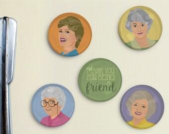 Golden Girls Illustrated Magnets
