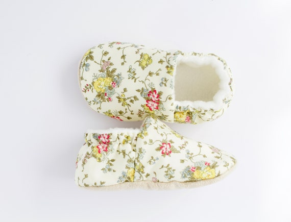 Summer floral baby girl shoes