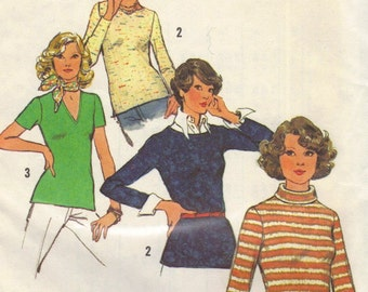 Simplicity 6624 sewing pattern // stretch-knit top