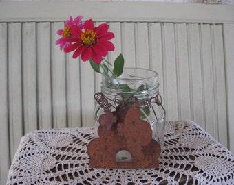 Pot issus de quoi que ce soit rouillé Tin abeille ruche Bumble abeilles Vase Candy porte maison pot en verre Decor rustique