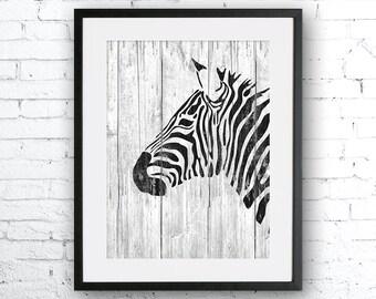 Zebra art illustration, Zebra painting, Zebra wood, Wall art, Rustic Wood art, Animal print, Home Decor, Animal silhouette, Kitchen decor,