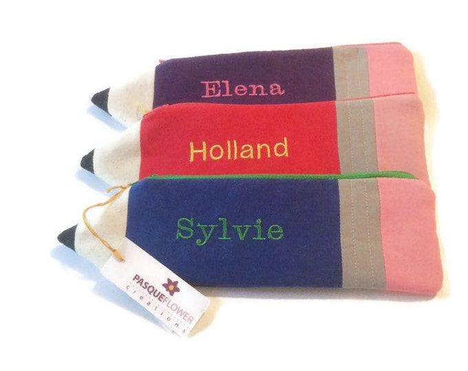 PERSONALIZED Pencil Pouches - Birthday Party Favor- Gift Under 15