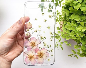 Phone Case Unique IPhone 8 Plus Blush Pink Bride Phone Case Spring Flower Case Bouquet IPhone Case Handmade Phone Case  Pretty Phone Case SE