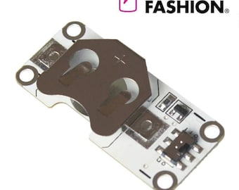 Electro-Fashion, Light Sensing Coin Cell Holder Sewable Electronics E Textiles e-textiles