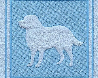 Burmese Mountain Dog Embossed Style Embroidered Flour Sack Hand/Dish Towel
