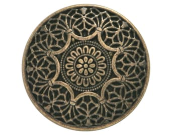 3 Safi 7/8 inch ( 23 mm ) Metal Buttons Brass Color