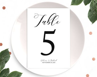 Wedding Table numbers set of 1-40-Personalized Printable Table Numbers-Elegant Table Numbers-Kraft Table Numbers-Wedding-Anniversary.