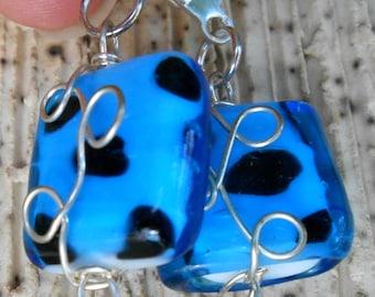 Sassy Blue Earrings