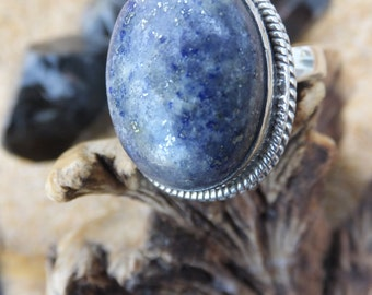 Lapis Lazuli and Sterling Silver Ring.... Size 9.5