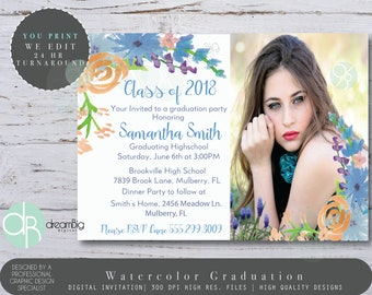 2018 Graduation Announcements for Highschool and College, High School Graduation, College Graduation, Grad Invitation, Graduation Label