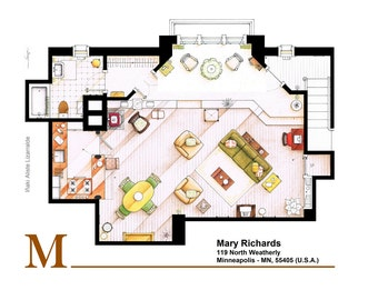 Mary Richards apartment from The MARY TYLER MOORE Show