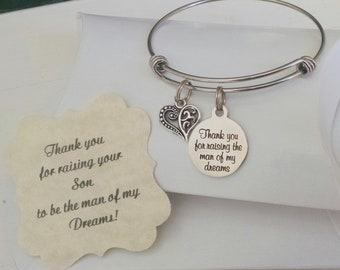 Mother In Law Wedding Gift, Mother Of The Groom, Thank You For Raising The Man Of My Dreams, Mother Of The Bride, SUMMER SALE