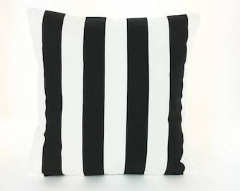 Black White Stripe Decorative Throw Pillow Cushion Covers All Sizes Black White Couch Sofa Pillows Black Bedding Home Decor Accent Cushion