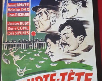 A movie poster of a film of Norbert Carbonneaux in short - head with funes gravey micheline dax Jean Richard Fernand Louis