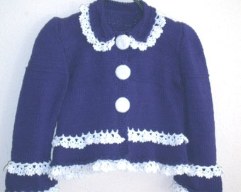 knitted and crocheted jacket children