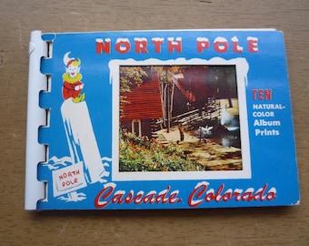 Vintage Photo Postcard Book NORTH POLE Cascade Colorado Christmas Santa Village